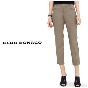 CLUB MONACO Tan Ankle Cropped Pants